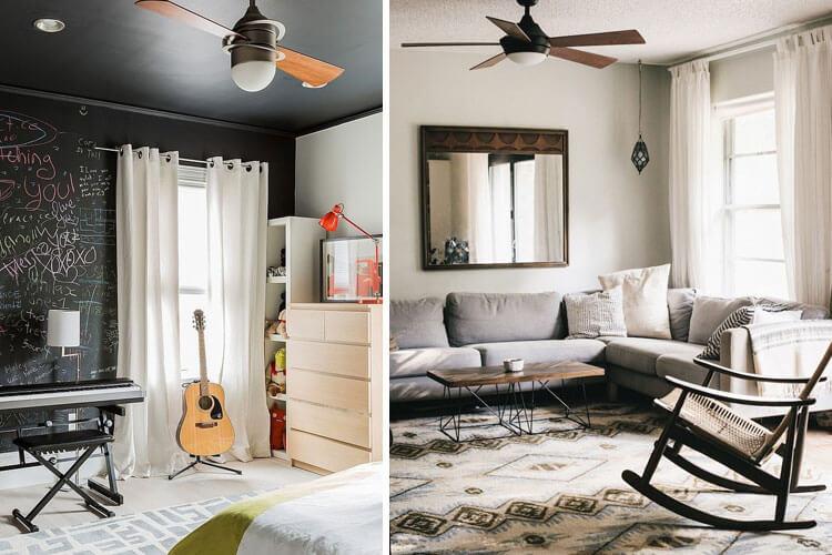 ventiladores de techo para habitaciones pequeñas