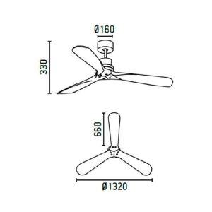 comprar ventilador de techo lantau 33370 faro barcelona