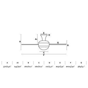 características ventilador de techo Mini Ufo