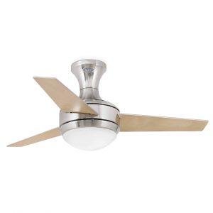 opiniones ventilador de techo mini ufo níquel mate aspas reversibles